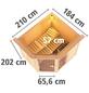 KARIBU Sauna »Paide 2«, mit Ofen, integrierte Steuerung-Thumbnail