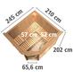 KARIBU Sauna »Paide 3«, inkl. 9 kW Bio-Kombi-Saunaofen mit externer Steuerung für 4 Personen-Thumbnail