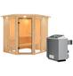 KARIBU Sauna »Pölva 1«, mit Ofen, integrierte Steuerung-Thumbnail