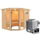 KARIBU Sauna »Pölva 3« inkl. 9 kW Bio-Kombi-Saunaofen mit externer Steuerung für 4 Personen-Thumbnail