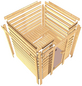KARIBU Sauna »Prelly«, BxTxH: 174 x 160 x 160 cm, 3,6 kw, Plug&Play-Saunaofen, int. Steuerung-Thumbnail