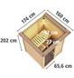 KARIBU Sauna »Prelly« mit Ofen, integrierte Steuerung-Thumbnail