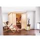 KARIBU Sauna »Rakvere«, BxTxH: 210 x 184 x 202 cm, ohne Saunaofen-Thumbnail