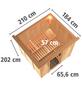 KARIBU Sauna »Rakvere« mit Ofen, externe Steuerung-Thumbnail