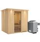 KARIBU Sauna »Rakvere«, mit Ofen, integrierte Steuerung-Thumbnail