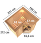 KARIBU Sauna »Riga 1«, BxTxH: 221 x 198 x 198 cm, 9 kw, Saunaofen, int. Steuerung-Thumbnail