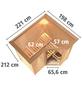 KARIBU Sauna »Riga 1«, inkl. 9 kW Bio-Kombi-Saunaofen mit externer Steuerung für 3 Personen-Thumbnail