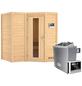 KARIBU Sauna »Riga 1«, mit Ofen, externe Steuerung-Thumbnail