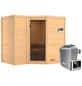 KARIBU Sauna »Riga 2«, BxTxH: 236 x 184 x 184 cm, 9 kw, Saunaofen, ext. Steuerung-Thumbnail