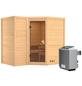 KARIBU Sauna »Riga 2«, BxTxH: 236 x 184 x 184 cm, 9 kw, Saunaofen, int. Steuerung-Thumbnail
