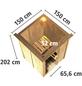KARIBU Sauna »Rositten« mit Ofen, externe Steuerung-Thumbnail