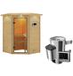 KARIBU Sauna »Rujen«, BxTxH: 174 x 160 x 160 cm, 3,6 kw, Plug&Play-Saunaofen, ext. Steuerung-Thumbnail
