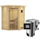 KARIBU Sauna »Rujen«, mit Ofen, externe Steuerung-Thumbnail