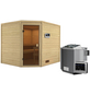 WOODFEELING Sauna »Sareen«, inkl. 4.5 kW Bio-Kombi-Saunaofen mit externer Steuerung für 4 Personen-Thumbnail