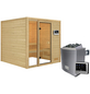 WOODFEELING Sauna »Senja«, BxTxH: 196 x 196 x 196 cm, 4,5 kw, Saunaofen, ext. Steuerung-Thumbnail