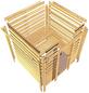 WOODFEELING Sauna »Siljana«, inkl. 4.5 kW Bio-Kombi-Saunaofen mit externer Steuerung für 4 Personen-Thumbnail