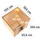 KARIBU Sauna »Sindi«, BxTxH: 193 x 184 x 184 cm, 9 kw, Bio-Kombi-Saunaofen, ext. Steuerung-Thumbnail