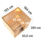 KARIBU Sauna »Sindi«, BxTxH: 193 x 184 x 184 cm, 9 kw, Saunaofen, int. Steuerung-Thumbnail