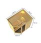 WOODFEELING Sauna »Skadi«, inkl. 4.5 kW Bio-Kombi-Saunaofen mit externer Steuerung für 4 Personen-Thumbnail
