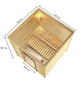 WOODFEELING Sauna »Skadia«, inkl. 4.5 kW Bio-Kombi-Saunaofen mit externer Steuerung für 4 Personen-Thumbnail