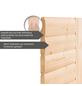 WOODFEELING Sauna »Sonja«, BxTxH: 224 x 160 x 160 cm, 9 kw, Bio-Kombi-Saunaofen, ext. Steuerung-Thumbnail