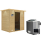WOODFEELING Sauna »Sonja«, inkl. 9 kW Bio-Kombi-Saunaofen mit externer Steuerung für 3 Personen-Thumbnail