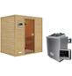 WOODFEELING Sauna »Sonja«, inkl. 9 kW Saunaofen mit externer Steuerung für 3 Personen-Thumbnail