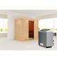 WOODFEELING Sauna »Sonja«, inkl. 9 kW Saunaofen mit integrierter Steuerung für 3 Personen-Thumbnail