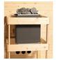 WOODFEELING Sauna »Svea«, BxTxH: 224 x 160 x 160 cm, 9 kw, Bio-Kombi-Saunaofen, ext. Steuerung-Thumbnail