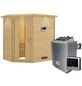 WOODFEELING Sauna »Svea«, BxTxH: 224 x 160 x 160 cm, 9 kw, Saunaofen, ext. Steuerung-Thumbnail