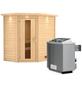 WOODFEELING Sauna »Svea«, BxTxH: 224 x 160 x 160 cm, 9 kw, Saunaofen, int. Steuerung-Thumbnail