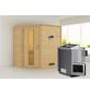 WOODFEELING Sauna »Svea«, inkl. 9 kW Bio-Kombi-Saunaofen mit externer Steuerung für 3 Personen-Thumbnail
