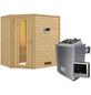 WOODFEELING Sauna »Svea«, inkl. 9 kW Saunaofen mit externer Steuerung für 3 Personen-Thumbnail