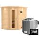WOODFEELING Sauna »Svea«, mit Ofen, externe Steuerung-Thumbnail