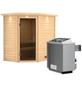 WOODFEELING Sauna »Svea«, mit Ofen, integrierte Steuerung-Thumbnail