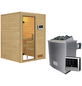WOODFEELING Sauna »Svenja«, inkl. 9 kW Saunaofen mit externer Steuerung für 3 Personen-Thumbnail