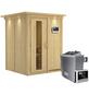 KARIBU Sauna »Tallinn« inkl. 9 kW Saunaofen mit externer Steuerung für 3 Personen-Thumbnail