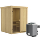 KARIBU Sauna »Tallinn«, mit Ofen, integrierte Steuerung-Thumbnail