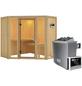 KARIBU Sauna »Tapa 1«, inkl. 9 kW Saunaofen mit externer Steuerung für 3 Personen-Thumbnail