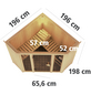 KARIBU Sauna »Tapa 1«, inkl. 9 kW Saunaofen mit integrierter Steuerung für 3 Personen-Thumbnail