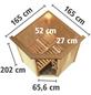 KARIBU Sauna »Tartu«, BxTxH: 165 x 165 x 165 cm, 9 kw, Bio-Kombi-Saunaofen, ext. Steuerung-Thumbnail