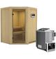KARIBU Sauna »Tartu«, inkl. 9 kW Bio-Kombi-Saunaofen mit externer Steuerung für 3 Personen-Thumbnail