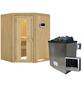 KARIBU Sauna »Tartu«, inkl. 9 kW Saunaofen mit externer Steuerung für 3 Personen-Thumbnail