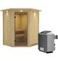 KARIBU Sauna »Tartu«, inkl. 9 kW Saunaofen mit integrierter Steuerung für 3 Personen-Thumbnail