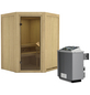 KARIBU Sauna »Tartu«, mit Ofen, integrierte Steuerung-Thumbnail