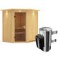 KARIBU Sauna »Tuckum«, BxTxH: 184 x 165 x 165 cm, 3,6 kw, Plug&Play-Saunaofen, int. Steuerung-Thumbnail