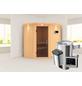 KARIBU Sauna »Tuckum«, inkl. 3.6 kW Plug&Play-Saunaofen mit externer Steuerung für 3 Personen-Thumbnail