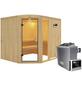KARIBU Sauna »Türi«, inkl. 9 kW Saunaofen mit externer Steuerung für 4 Personen-Thumbnail