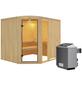KARIBU Sauna »Türi«, inkl. 9 kW Saunaofen mit integrierter Steuerung für 4 Personen-Thumbnail