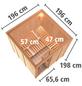KARIBU Sauna »Valga«, BxTxH: 196 x 196 x 196 cm, 9 kw, Bio-Kombi-Saunaofen, ext. Steuerung-Thumbnail